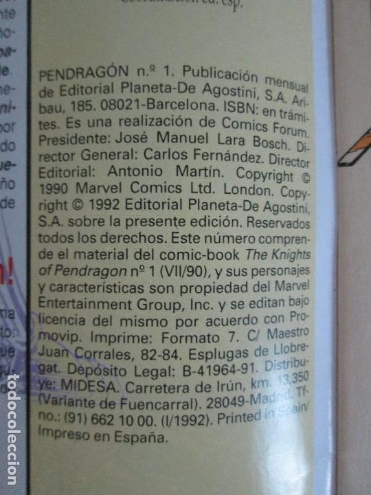 Cómics: LOS CABALLEROS DE PENDRAGON. Nº 1,2,3,4,5,6. MARVEL COMICS. FORUM. 1991. VER FOTOGRAFIAS - Foto 8 - 131165092