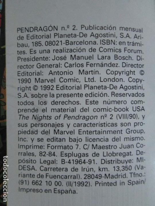 Cómics: LOS CABALLEROS DE PENDRAGON. Nº 1,2,3,4,5,6. MARVEL COMICS. FORUM. 1991. VER FOTOGRAFIAS - Foto 13 - 131165092