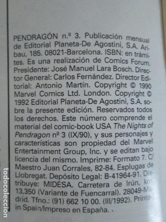 Cómics: LOS CABALLEROS DE PENDRAGON. Nº 1,2,3,4,5,6. MARVEL COMICS. FORUM. 1991. VER FOTOGRAFIAS - Foto 19 - 131165092