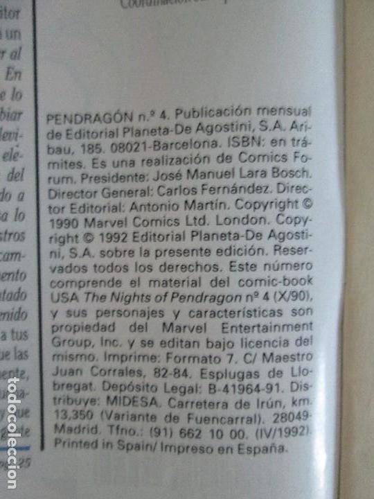 Cómics: LOS CABALLEROS DE PENDRAGON. Nº 1,2,3,4,5,6. MARVEL COMICS. FORUM. 1991. VER FOTOGRAFIAS - Foto 23 - 131165092