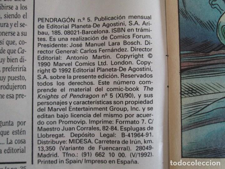 Cómics: LOS CABALLEROS DE PENDRAGON. Nº 1,2,3,4,5,6. MARVEL COMICS. FORUM. 1991. VER FOTOGRAFIAS - Foto 28 - 131165092