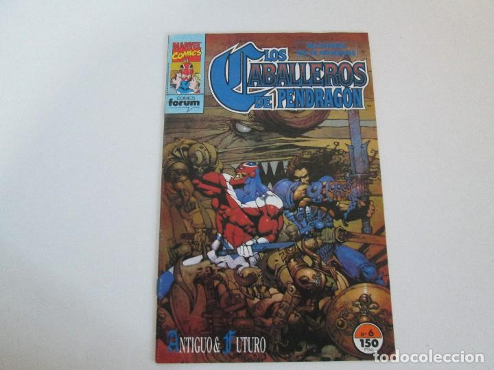 Cómics: LOS CABALLEROS DE PENDRAGON. Nº 1,2,3,4,5,6. MARVEL COMICS. FORUM. 1991. VER FOTOGRAFIAS - Foto 32 - 131165092