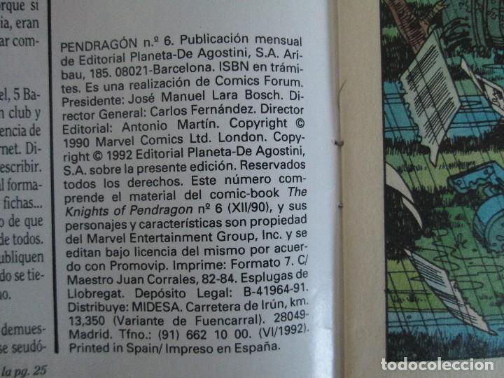 Cómics: LOS CABALLEROS DE PENDRAGON. Nº 1,2,3,4,5,6. MARVEL COMICS. FORUM. 1991. VER FOTOGRAFIAS - Foto 33 - 131165092