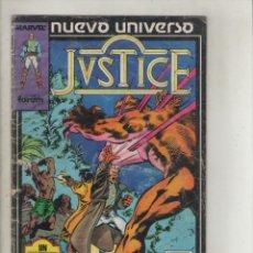 Cómics: JUSTICE- AÑO 1988-FORUN-COLOR-FORMATO GRAPA-Nº 5- PAPA. Lote 131237739