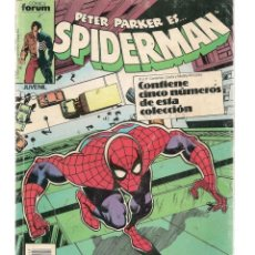 Cómics: SPIDERMAN. TOMO RETAPADO, CONTIENE 5 NROS. DE ESTA COLECCIÓN: DEL 161 AL 165. FORUM.(P/B74). Lote 131240451