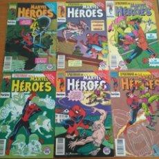 Cómics: SPIDERMAN MARVEL HEROES 72 73 74 75 76 Y 77 EL NIÑO QUE LLEVAS DENTRO COMPLETA FORUM VER FOTOS. Lote 131369242