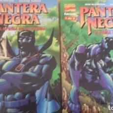 Cómics: PANTERA NEGRA LA PRESA DE LA PANTERA COMPLETA 2 TOMOS MCGREGOR Y TURNER FORUM. Lote 131744434