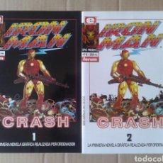 Cómics: LOTE IRON MAN CRASH 1 Y 2 (EPIC PRESENTS NÚMEROS 7 Y 8). POR MIKE SAENZ (COMICS FORUM, 1992). Lote 132448729