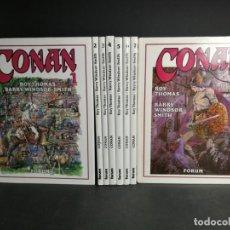 Cómics: COLECCION COMPLETA - CONAN 8 NÚMEROS - ROY THOMAS - BARRY WINDSOR - SMITH - FORUM. Lote 132550914