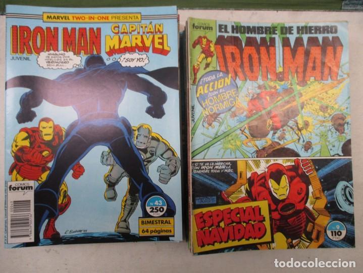 COLECCION IRON MAN TWO IN ONE CAPITAN MARVEL - DEL 9 AL 48 - FORUM 35 EJEMPLARES (Tebeos y Comics - Forum - Iron Man)
