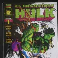 Cómics: EL INCREÍBLE HULK, VOLUMEN 3, Nº 1. FORUM /LA MASA/VOL III. Lote 132650554