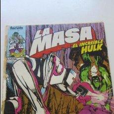 Cómics: LA MASA, EL INCREÍBLE HULK. VOL I N°33 FORUM. CS139. Lote 133101718