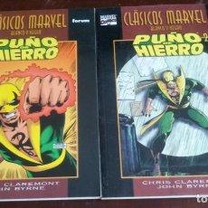 Cómics: CLASICOS MARVEL BLANCO Y NEGRO - PUÑO DE HIERRO - 2 TOMOS COMPLETA - NUEVA. Lote 133144310