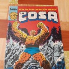 Cómics: LA COSA N° 1 ( FORUM ). Lote 156796086