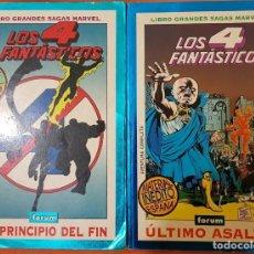 Cómics: LIBROS GRANDES SAGAS LOS FANTÁSTICOS: EL PRINCIPIO DEL FIN Y ÚLTIMO ASALTO. FORUM. Lote 133526534