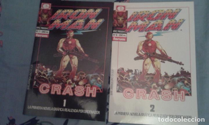 IRON MAN: CRASH: LA PRIMERA NOVELA GRAFICA REALIZADA POR ORDENADOR: FORUM (Tebeos y Comics - Forum - Iron Man)