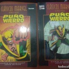Cómics: CLASICOS MARVEL PUÑO DE HIERRO 1 Y 2 COMPLETA FORUM. Lote 134026014