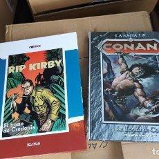 Cómics: LOTE 2 COMICS TAPA DURA: CONAN (LA LLEGADA DE CONAN) Y RIP KIRBY (EL TRONO DE CREDONIA). Lote 134063594