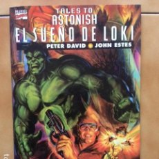 Cómics: TALES TO ASTONISH : EL SUEÑO DE LOKI POR PETER DAVID Y JOHN ESTES - PRESTIGIO FORUM. Lote 134080934