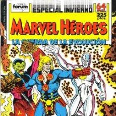 Cómics: MARVEL HÉROES ESPECIAL INVIERNO 1988 - FORUM. SILVER SURFER. LA GUERRA DE LA EVOLUCIÓN.. Lote 134150930