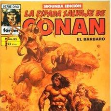 Cómics: LA ESPADA SALVAJE DE CONAN - Nº 33 - EL BARBARO - - FORUM - SERIE ORO -. Lote 134202918
