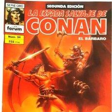 Cómics: LA ESPADA SALVAJE DE CONAN - Nº 34 - EL BARBARO - - FORUM - SERIE ORO - SEGUNDA EDICION -. Lote 134203022