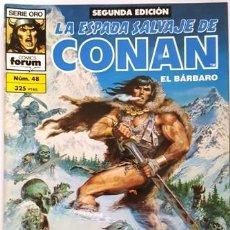 Cómics: LA ESPADA SALVAJE DE CONAN - Nº 48 - EL BARBARO - - FORUM - SERIE ORO - SEGUNDA EDICION -. Lote 134203314