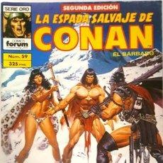 Cómics: LA ESPADA SALVAJE DE CONAN - Nº 59 - EL BARBARO - - FORUM - SERIE ORO - SEGUNDA EDICION -. Lote 134203370