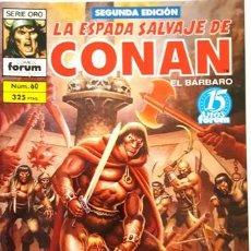 Cómics: LA ESPADA SALVAJE DE CONAN - Nº 60 - EL BARBARO - - FORUM - SERIE ORO - SEGUNDA EDICION -. Lote 134203522