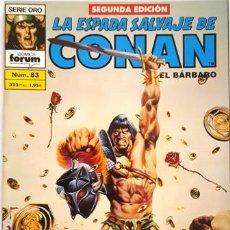Cómics: LA ESPADA SALVAJE DE CONAN - Nº 83 - EL BARBARO - - FORUM - SERIE ORO - SEGUNDA EDICION -. Lote 134203610