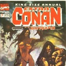 Cómics: KING - SIZE ANNUAL - EXTRA CONAN - Nº 7 - EL BARBARO -- FORUM - . Lote 134204314
