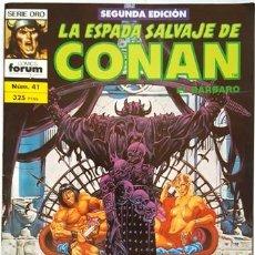 Cómics: LA ESPADA SALVAJE DE CONAN - Nº 41 - EL BARBARO - - FORUM - SERIE ORO -. Lote 134205362