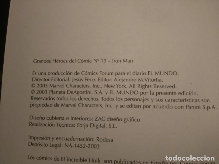 Cómics: lote de 3 Comics de Iron Man - Foto 6 - 135622362