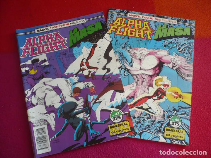 ALPHA FLIGHT VOL. 1 NºS 47 Y 48 ( MANTLO PETER DAVID ) FORUM MARVEL TWO IN ONE HULK LA MASA (Tebeos y Comics - Forum - Alpha Flight)