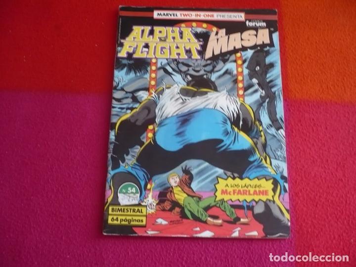 ALPHA FLIGHT VOL. 1 Nº 54 ( MANTLO DAVID ) ¡BUEN ESTADO! FORUM MARVEL TWO IN ONE HULK LA MASA (Tebeos y Comics - Forum - Alpha Flight)