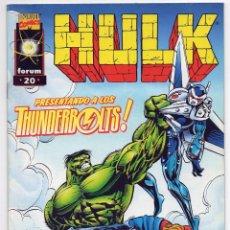 Comics: MARVEL FORUM. 20. HULK. PRESENTANDO A LOS THUNDERBOLTS.. Lote 135740375