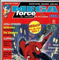 Cómics: SPIDERMAN LA REVISTA DE LOS JUEGOS SEGA - MEGA FORCE Nº 9 - REVISTA VIDEOJUEGOS (CON POSTER CENTRAL). Lote 135931286