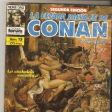 Cómics: LA ESPADA SALVAJE DE CONAN - SERIE ORO - 2ª ED. Nº 13 - LA CIUDADELA ESCARLATA - FORUM -. Lote 136102746