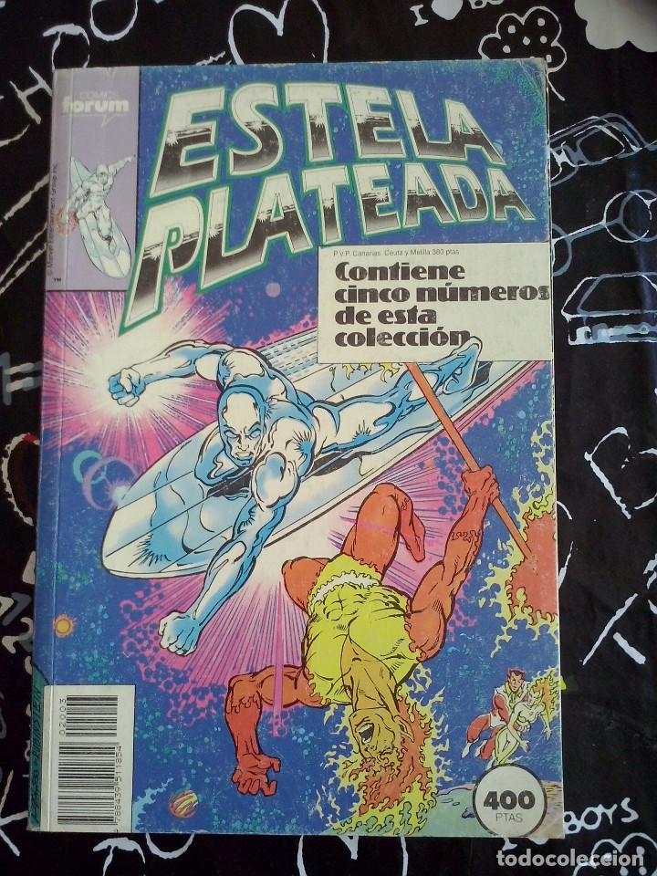 FORUM - ESTELA PLATEADA RETAPADO CON LOS NUM. 11-12-13-14-15 (Tebeos y Comics - Forum - Silver Surfer)