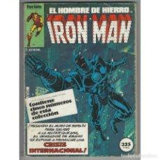 Cómics: IRON MAN VOLUMEN 1 FORUM. RETAPADO CON LOS NUMEROS 6 A 10 FORUM.. Lote 137267810
