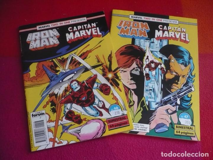 IRON MAN VOL. 1 NºS 46 Y 47 ( ONEILL BUSCEMA ) ¡BUEN ESTADO! FORUM TWO IN ONE CAPITAN MARVEL (Tebeos y Comics - Forum - Iron Man)
