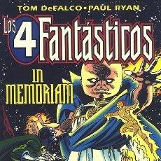 Cómics: LOS 4 FANTÁSTICOS: IN MEMORIAM - TOMO FORUM.. Lote 139012466