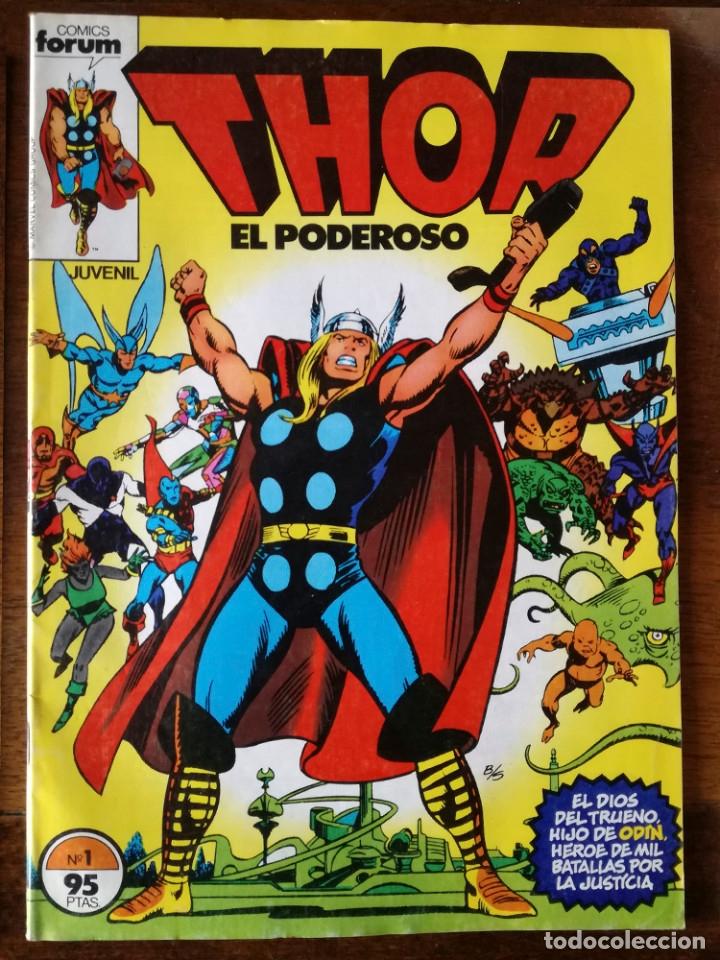 4 COMICS FORUM THOR-TODOPODEROSO V 1 Nº 1-3-14-17 DE MARVEL COMICS GROUP 1983 NUEVOS (Tebeos y Comics - Forum - Thor)