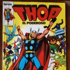 Cómics: 4 COMICS FORUM THOR-TODOPODEROSO V 1 Nº 1-3-14-17 DE MARVEL COMICS GROUP 1983 NUEVOS. Lote 119944895