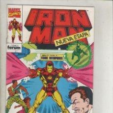 Cómics: IRON MAN-VOL. 2-FORUM-AÑO 1992-NUEVA ETAPA-COLOR-FORMATO GRAPA-Nº 1-EPITAFIO EN GRIS. Lote 139868370