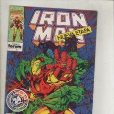 Cómics: IRON MAN-VOL. 2-FORUM-AÑO 1992-NUEVA ETAPA-COLOR-FORMATO GRAPA-Nº 3-CAZADOR ESTELAR. Lote 139869534