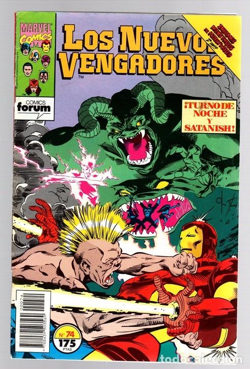LOS NUEVOS VENGADORES. Nº 74. TURNO DE NOCHE Y SATANISH. FORUM, PLANETA, AÑO 1993 (Tebeos y Comics - Forum - Vengadores)