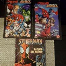 Cómics: LOTE DE 3 COMICS DE SPIDERMAN - BADROCK NºS 1 Y 2 + LA MANO DEL MUERTO - FORUM Y PLANETA - NUEVOS. Lote 140526894