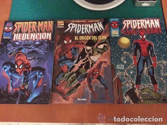 LOTE DE 3 COMICS DE SPIDERMAN - DIFICILES DE CONSEGUIR - FORUM - COMO NUEVOS (Tebeos y Comics - Forum - Spiderman)