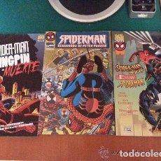 Cómics: LOTE DE 3 COMICS DE SPIDERMAN - DIFICILES DE CONSEGUIR - FORUM - COMO NUEVOS. Lote 140530730